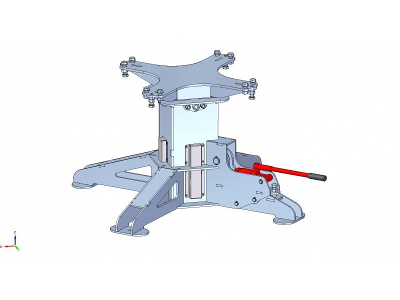 Hydraulická noha ke svařovacímu stolu