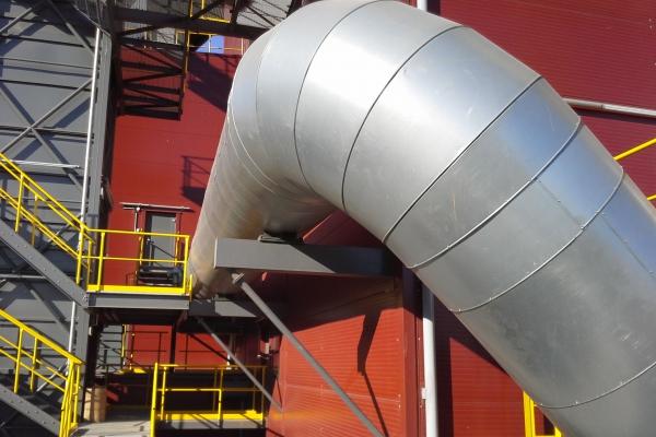 Injektáž prachového uhlí do VP 4 a VP 6 - velké potrubí
