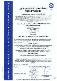 certifikát EN 1090-2
